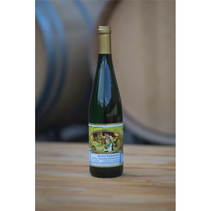 picture of a wine bottle of Kröver Nacktarsch Riesling