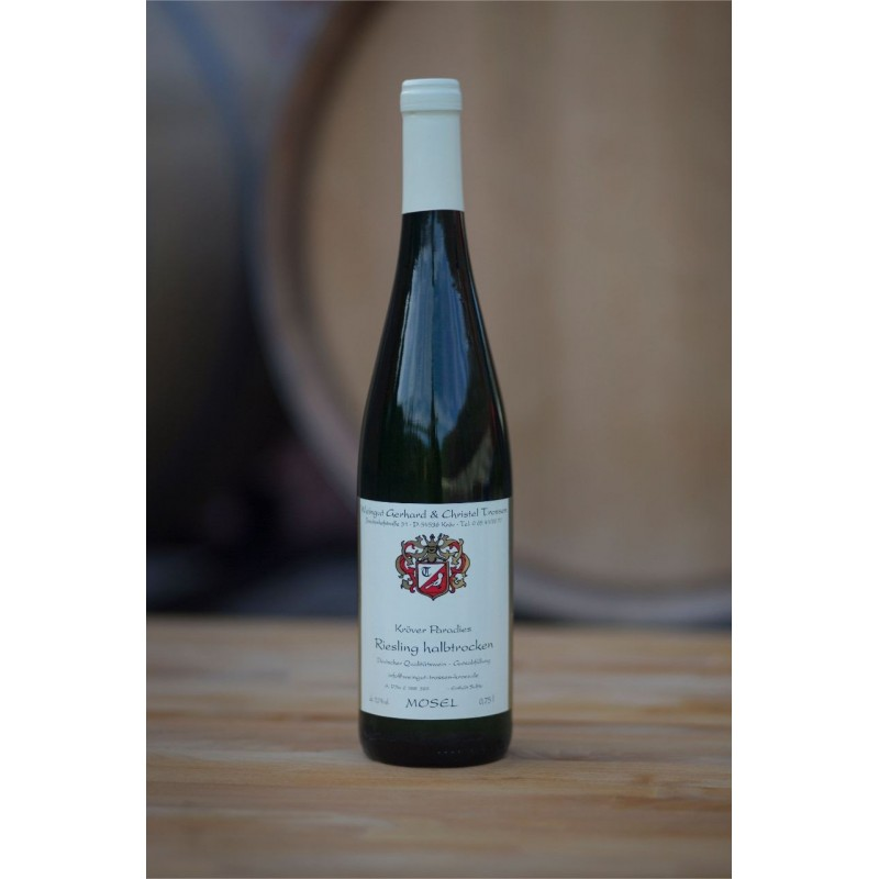 picture of a wine bottle of Kröver Paradies Riesling